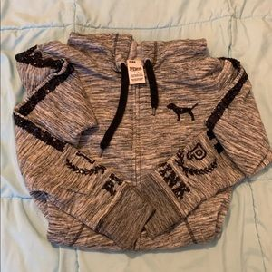 PINK BRAND sequin hoodie
